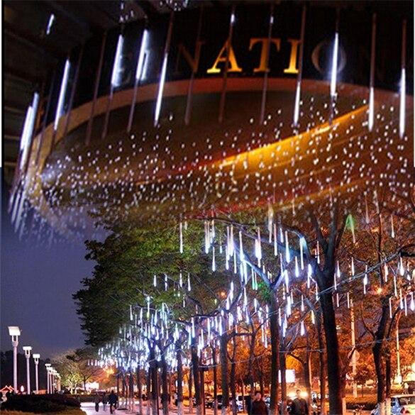 30 см 8X18 светодиодов Метеоритный Дождь Трубы LED свет для праздника/партия/украшения 62