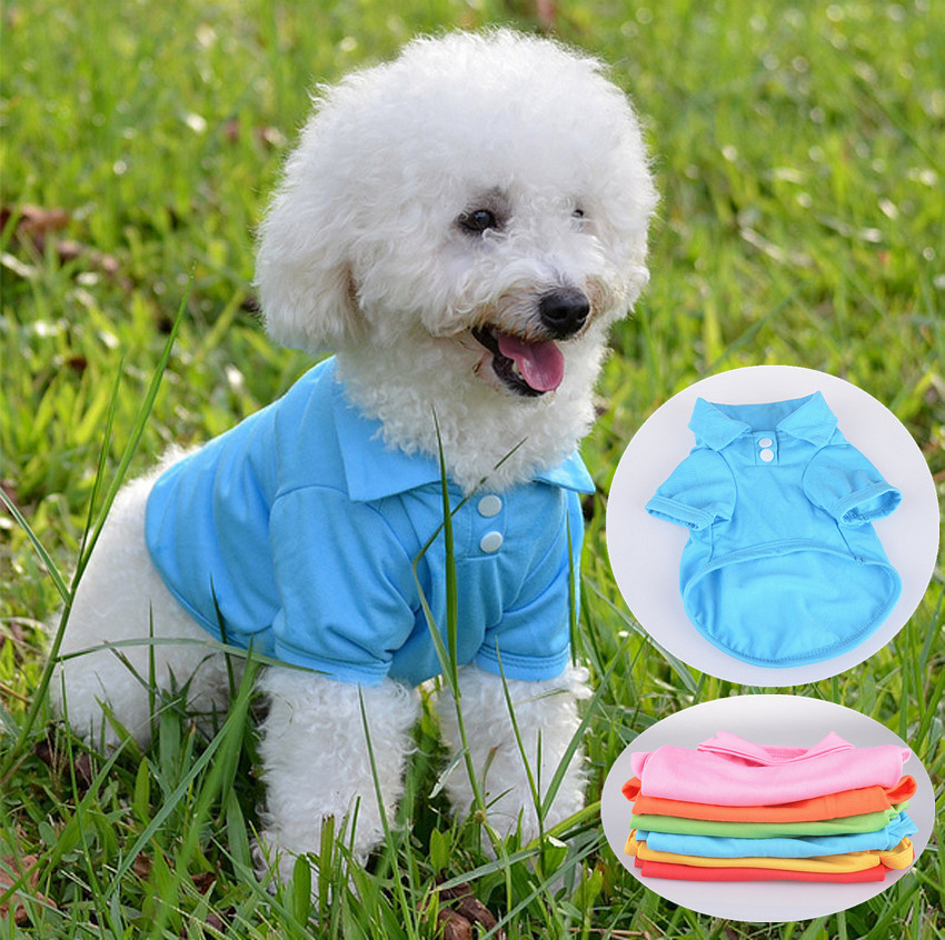 Pet Puppy Comfortable Summer Shirt for Small Dog Cat Clothes Costume Apparel T-Shirt Durable Pet Accessory