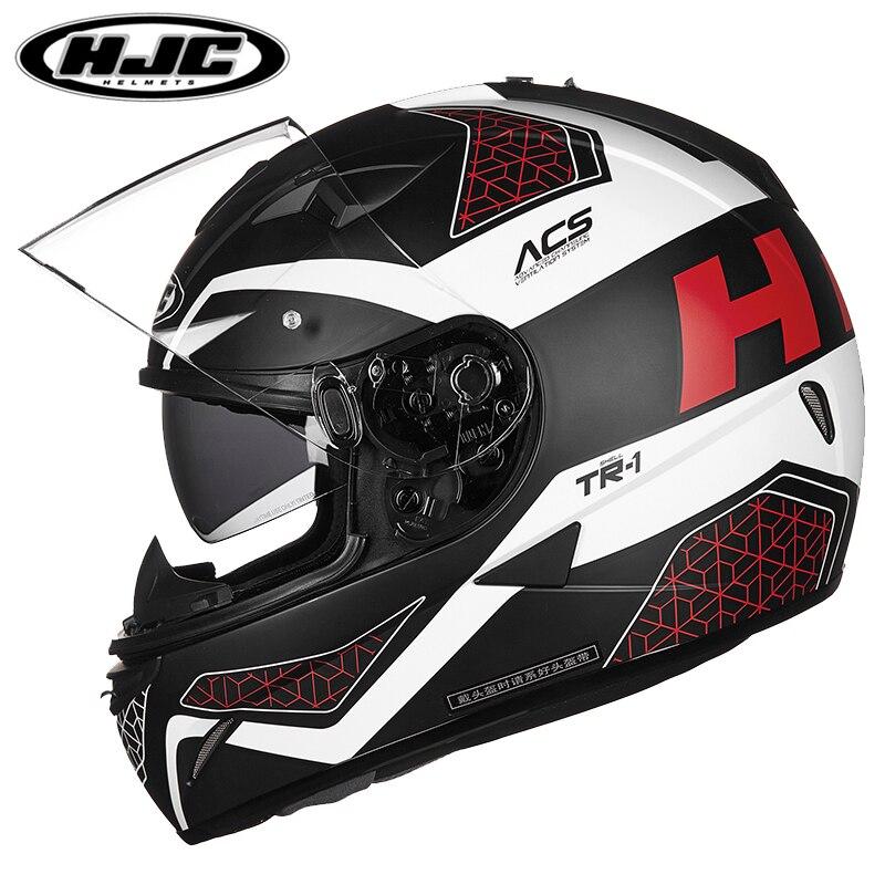 HJC motorcycle helmet full face helmets locomotive car racing helmet double lens ECE approve capacete Casco tr 1