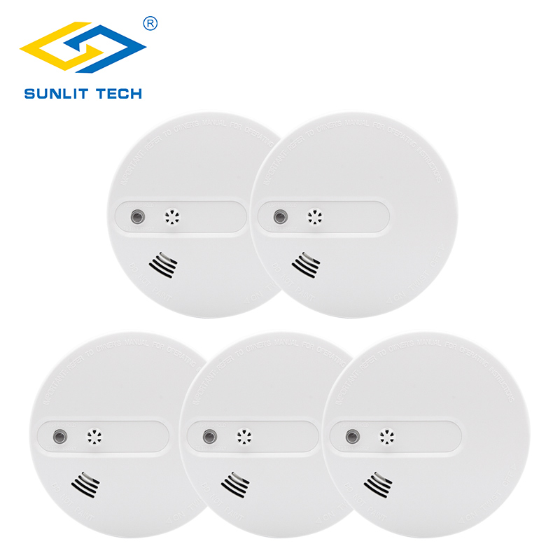 5pcs/lot Fire Smoke Sensors Wireless 2 in 1 Smoke Temperature Detector Sensor Smart Alarm For 433MHz Home Security System