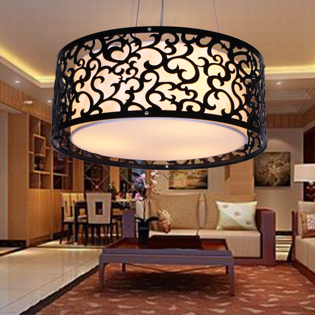 Chinese Fashion Handmade Carved Arts Acrylic Pendant Lights Parchmyn Light  Shade Bedroom Living Dining Room Lamp