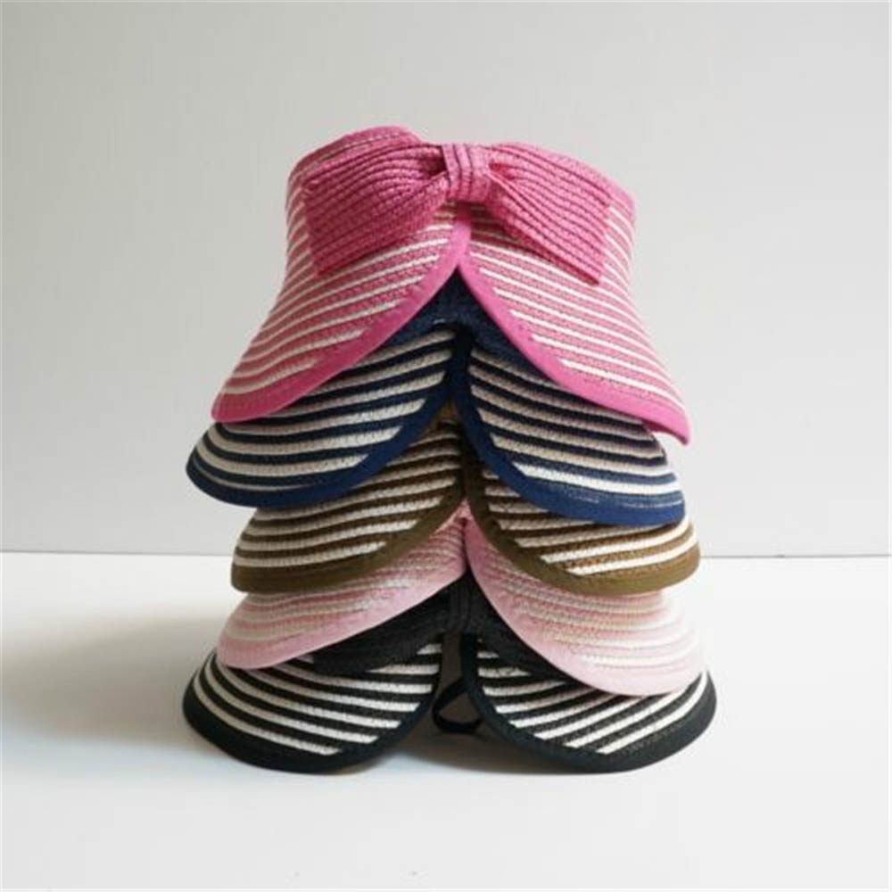 1 pcs Fashion Girls Children Summer Beach Sun Hat Visor Foldable Roll Up Wide Brim Straw Cap Beautiful Hats