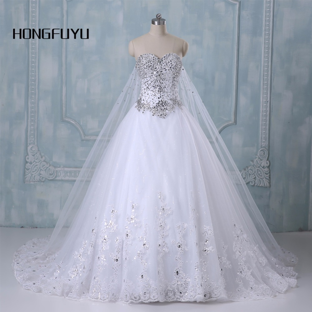 New Bandage Tube Top Crystal Luxury Wedding Dress Bridal Gown Wedding Dresses Vestido De Noiva X71101