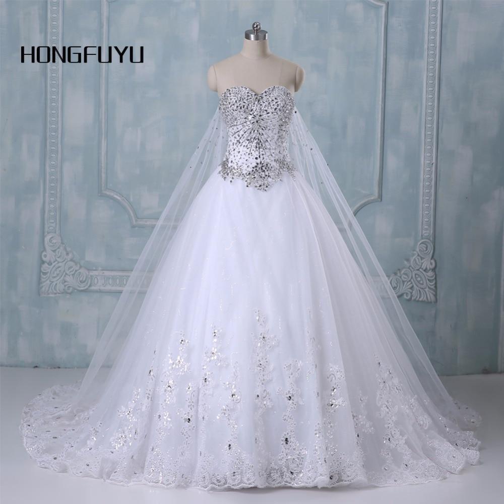 New Bandage Tube Top Crystal Luxury Wedding Dress Bridal ...