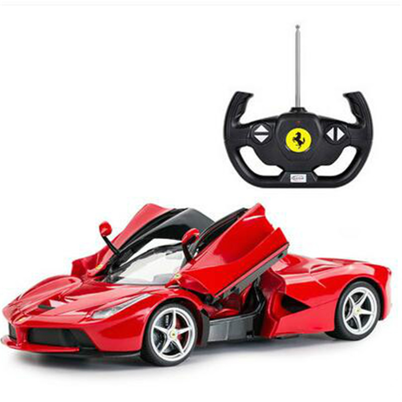 usb charging remote control car can open the door steering wheel rc car racing toys for