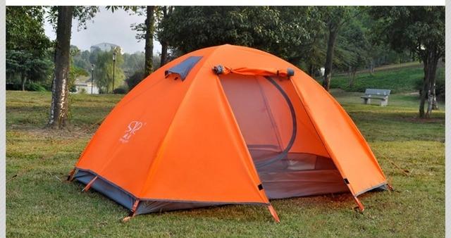 Outdoor camping lightweight double aluminum rod Let rain kpachaa nanatka tent