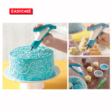 New Food grade ABS + Metal Baking Tools Cake Kitchen Accessories Tool Decorative Spray Gun Bag Decorating Mouth Set Squeeze