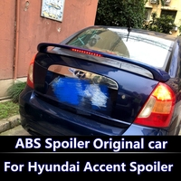 For Hyundai Accent Spoiler 2007 2013 High Quality ABS Plastic Unpainted Primer Rear Trunk For Accent Spoiler Spoiler with brake