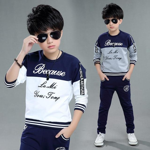e1339fd68 Boys clothes sport suit casual boys clothing sets 2019 autumn letter two  pieces children clothing set kids tracksuit clothes