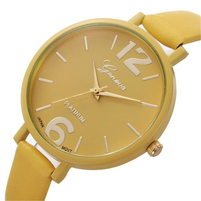 2017 Women Gofuly Brand Luxury Fashion Casual Quartz Watches Faux Leather Sport Lady Relojes Mujer Wristwatches Girl Dress Watch 2016 fashion lady wrist watch casual silicone watches with quartz unisex wristwatches for men women gift silicona children mujer