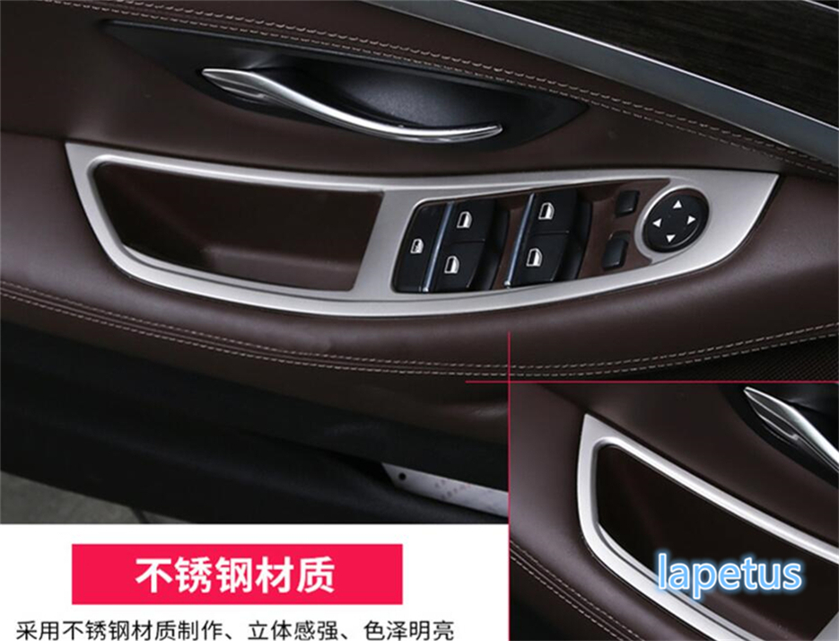 For BMW 5 Series 520i 525i 530i F10 F18 2011 2016 Stainless Steel New Style Window Armrest Panel Lift Switch Button Cover Trim