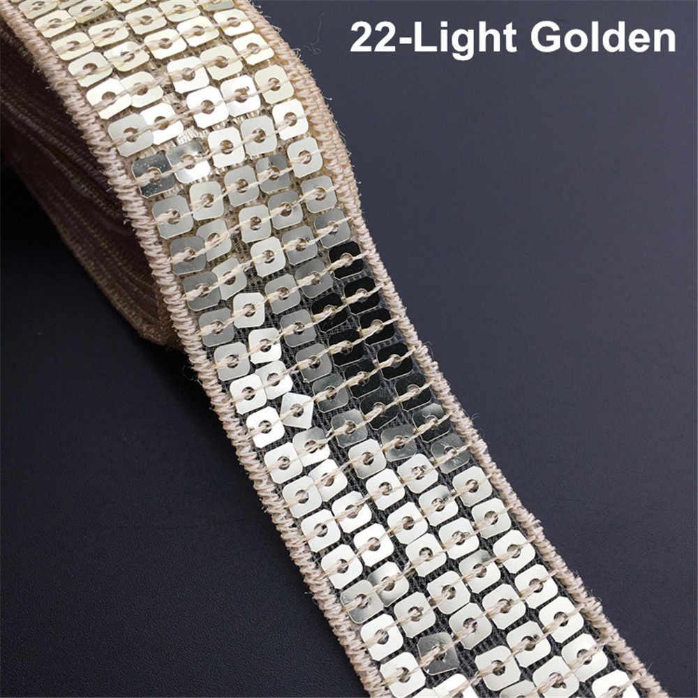 5 Yards/lot 25mm Pullu Boncuk Trim Dantel Pul Kurdeleler el sanatları Için Giysiler Kafa elbise Dekorasyon