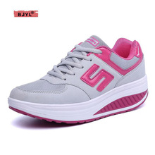 BJYL sneakers women Spring and autumn new women shoes leather breathable fashion women high shoes casual sports shoes High heel mycolen 2018 spring autumn sports shoes korean leather women s new small white shoes new fashion cowhide shoes women casual