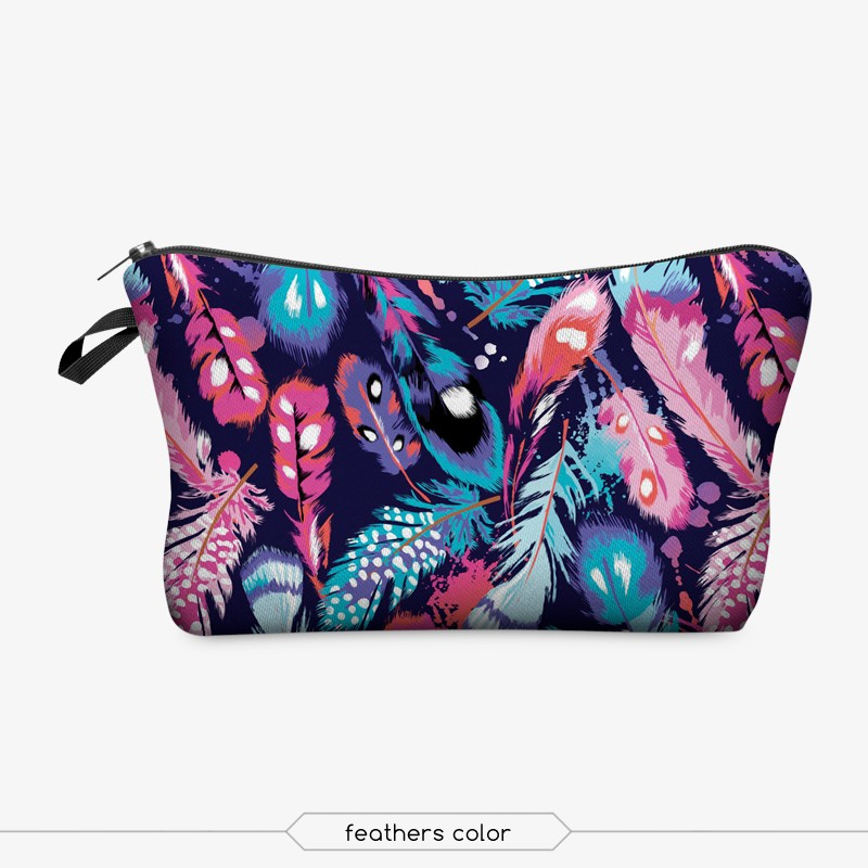 Jom Tokoy 3D Printing Makeup Bags With Multicolor Pattern Cute Cosmetics Pouchs For Travel Ladies Pouch Women Cosmetic Bag 4