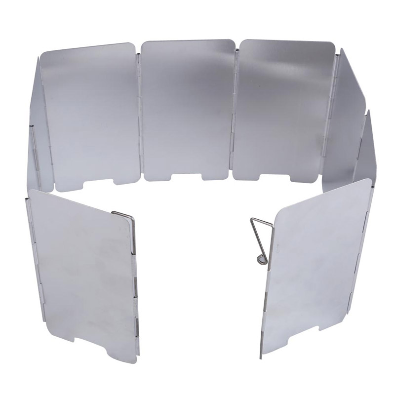 Portable 9-plates Foldable Camping Stove Wind Shield Screen Cookout Picnic Windbreak Outdoor Camping Wind Deflector