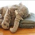 Bebê e crianças elefante travesseiro + cobertor cinza frio algodão de qualidade superior PP conveniente frete grátis