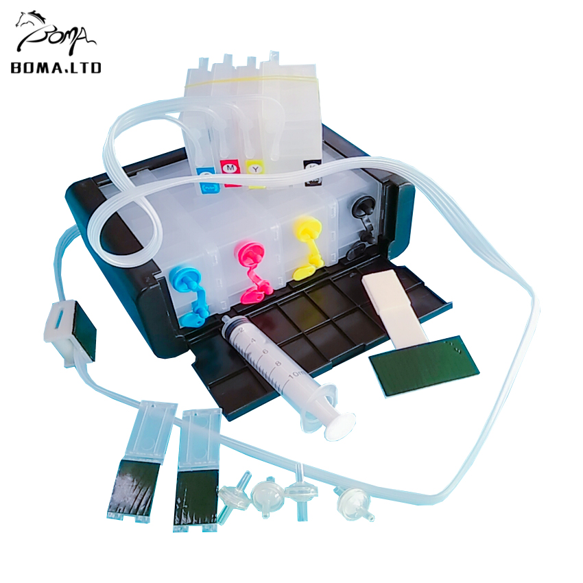 BOMA.LTD For HP954 HP954XL 958XL ARC Chip bulk ink Ciss System For <font><b>HP</b></font> OfficeJet 7740 7730 8210 8710 8718 8740 8730 8745 Printer image