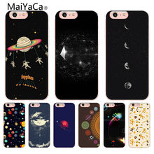 MaiYaCa Arrival Universe Outer Space lovely for iPhone 4 5S 6S 7 8 Plus X XR XS MAX Phone Cases transparent Soft TPU Cover Cases(China)