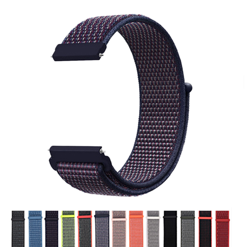 20mm Nylon Soft Bands For Xiaomi Huami Amazfit Bip BIT Strap Belt Watch Wristband For Galaxy Watch 42mm Active/gear S2 Bracelet