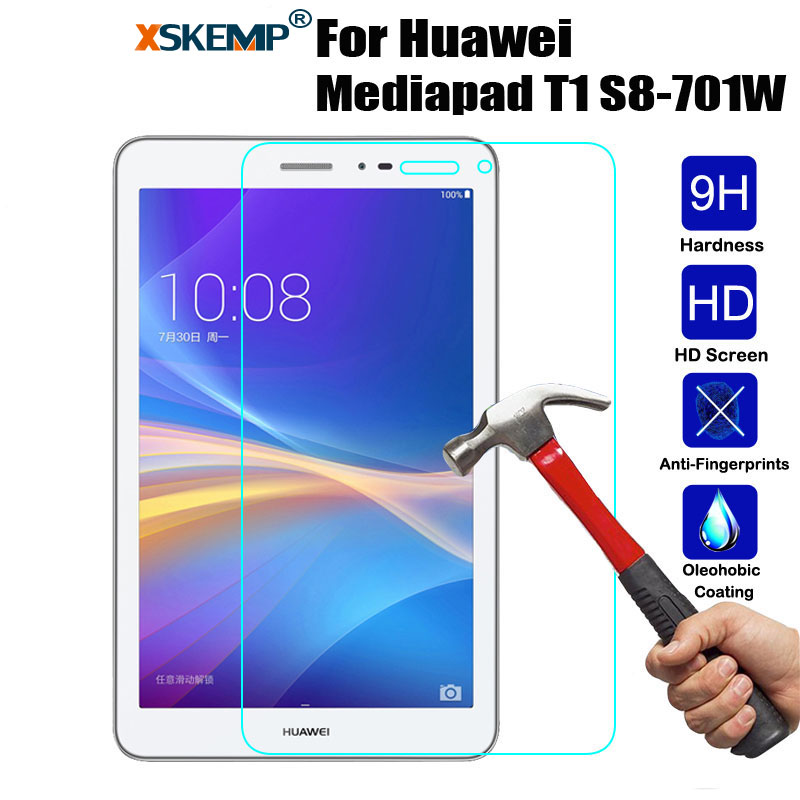 XSKEMP 0.3mm 9H Real Tempered Glass For Huawei Mediapad T1 8.0