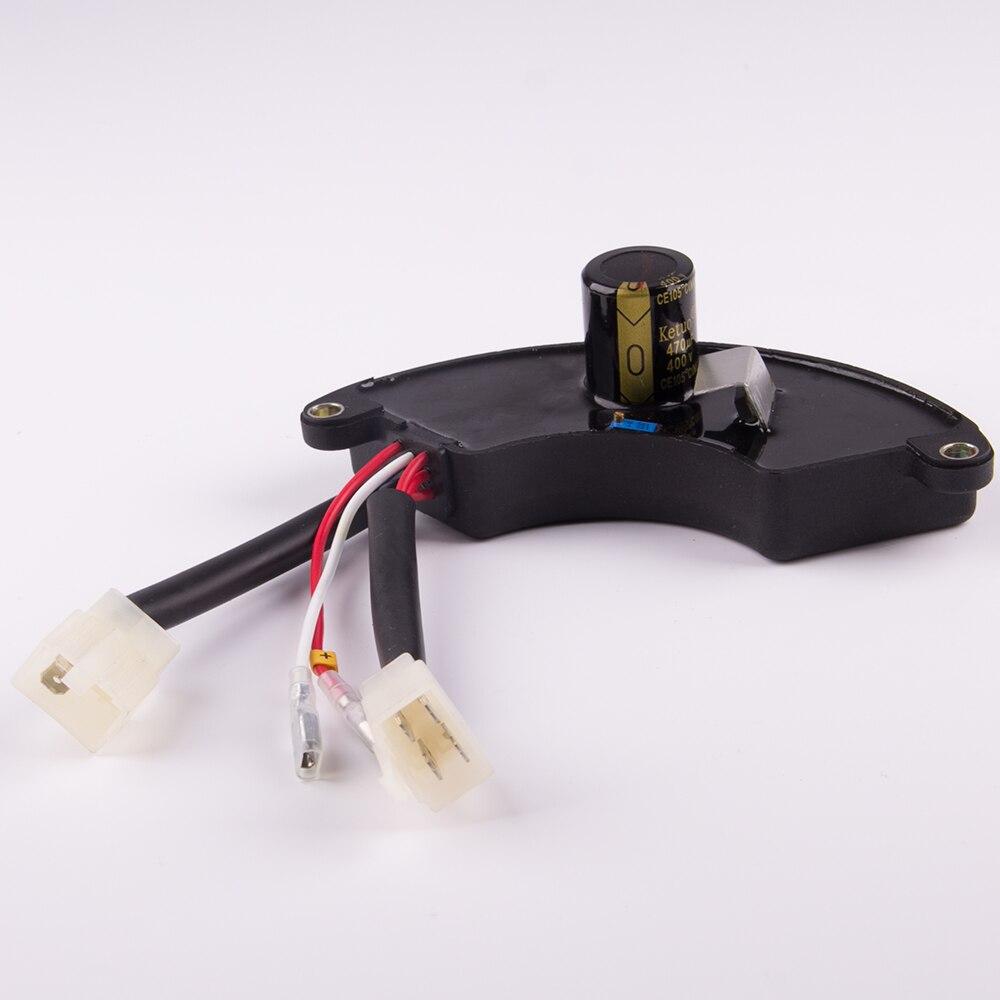 5kw 8kw trois 3 phase ac génératrice à essence avr universel automatique régulateur de tension stabilisateur pour petit alternateur 400v470uf