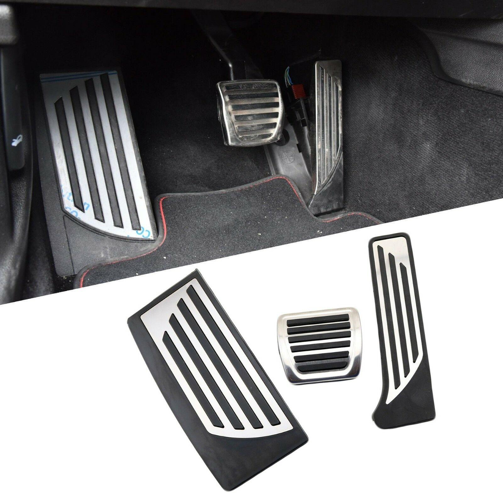 Coussinet de pied antidérapant adapté pour Alfa Romeo Giulia Stelvio 2017 2018 accessoires carburant gaz frein repose pied couvercle de pédale pas de perceuse