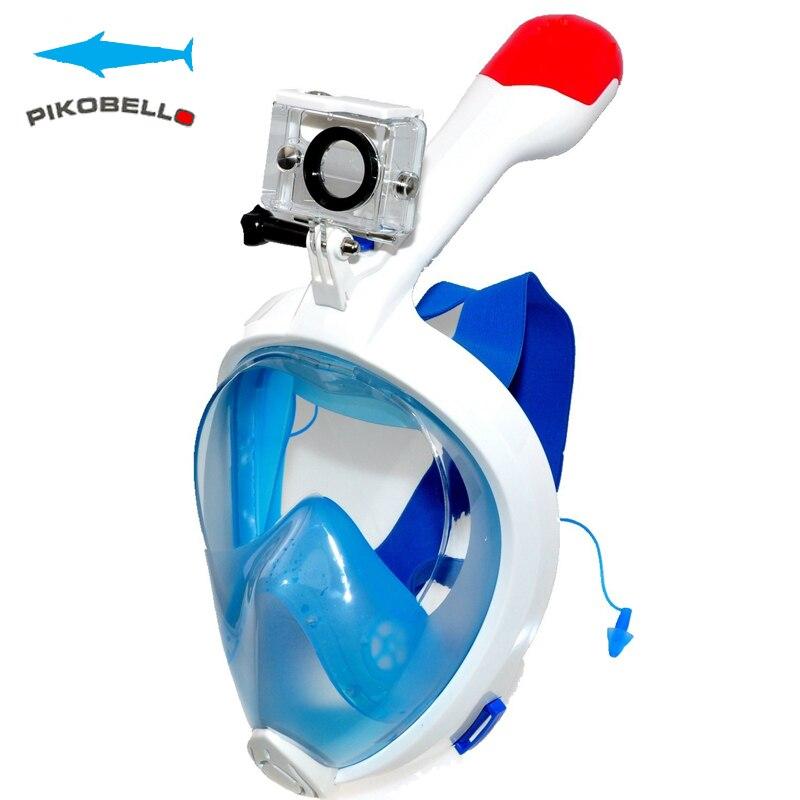 Caméra de plongée sous-marine GoPro Anti-buée masque de plongée complet avec anti-dérapant