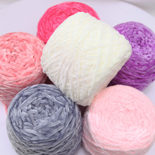 250g Velvet yarn Soft protein Cashmere Yarn silk wool baby Yarn crochet knitting Yarn cotton baby wool DIY hand-knitted sweater
