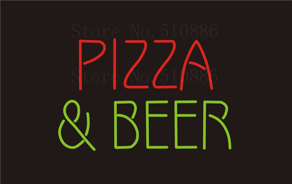 Custom Signage NEON SIGNS Pizza Beer Real GLASS Tube BAR PUB Signboard Display Decorate Store Shop Light Sign 17*14 pi b as pcba expansion board set for raspberry pi multicolored