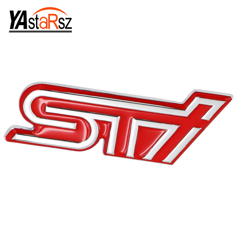 3D Excellent Smooth Glossy Metal STI Emblem Badge Sticker for Subaru XV Legacy Forester Impreza STI WRX Car-Styling Accessories auto front grille grill badge emblem fit for wrc red rally impreza foreater sti wrx