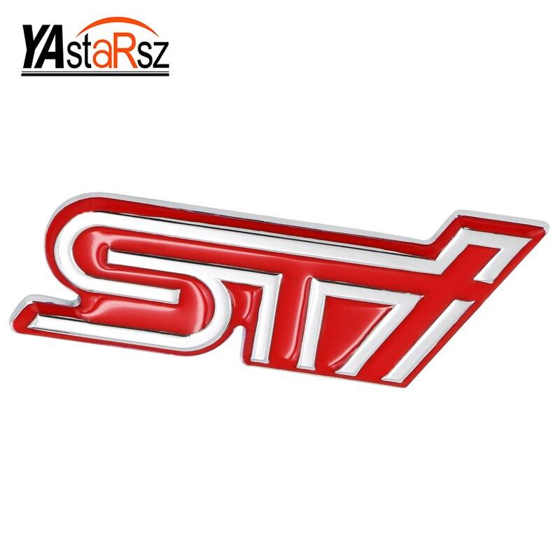3D Excellent Smooth Glossy Metal STI Emblem Badge Sticker for Subaru XV Legacy Forester Impreza STI WRX Car-Styling Accessories hot sale for subaru f1 style rear fog lights red lens subaru wrx vag 2014 sti vab 2014 xv 2012 impreza gp 2011