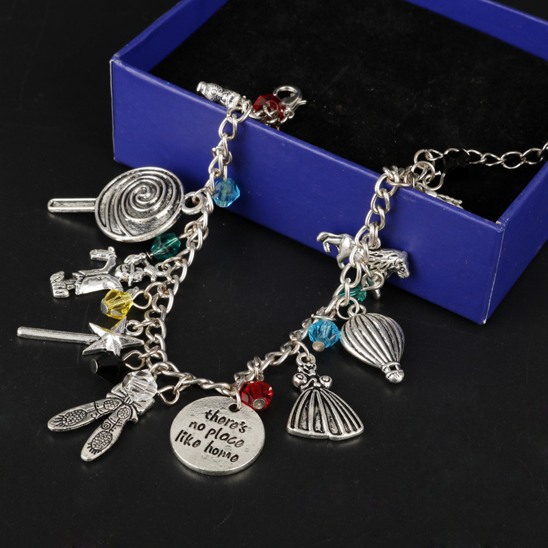 MQCHUN The Wizard of Oz Classic Movie Themed Silvertone Metal Charm Bracelets Bangles For Women Jewelry