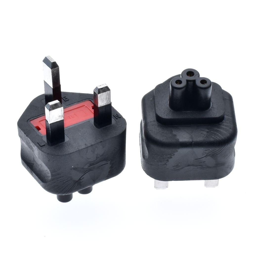 HTB1sg0aaizxK1RkSnaVq6xn9VXa5 - High quality black Copper Standart 10A 250V British standard to IEC320 C5 power adaptor plug convert socket