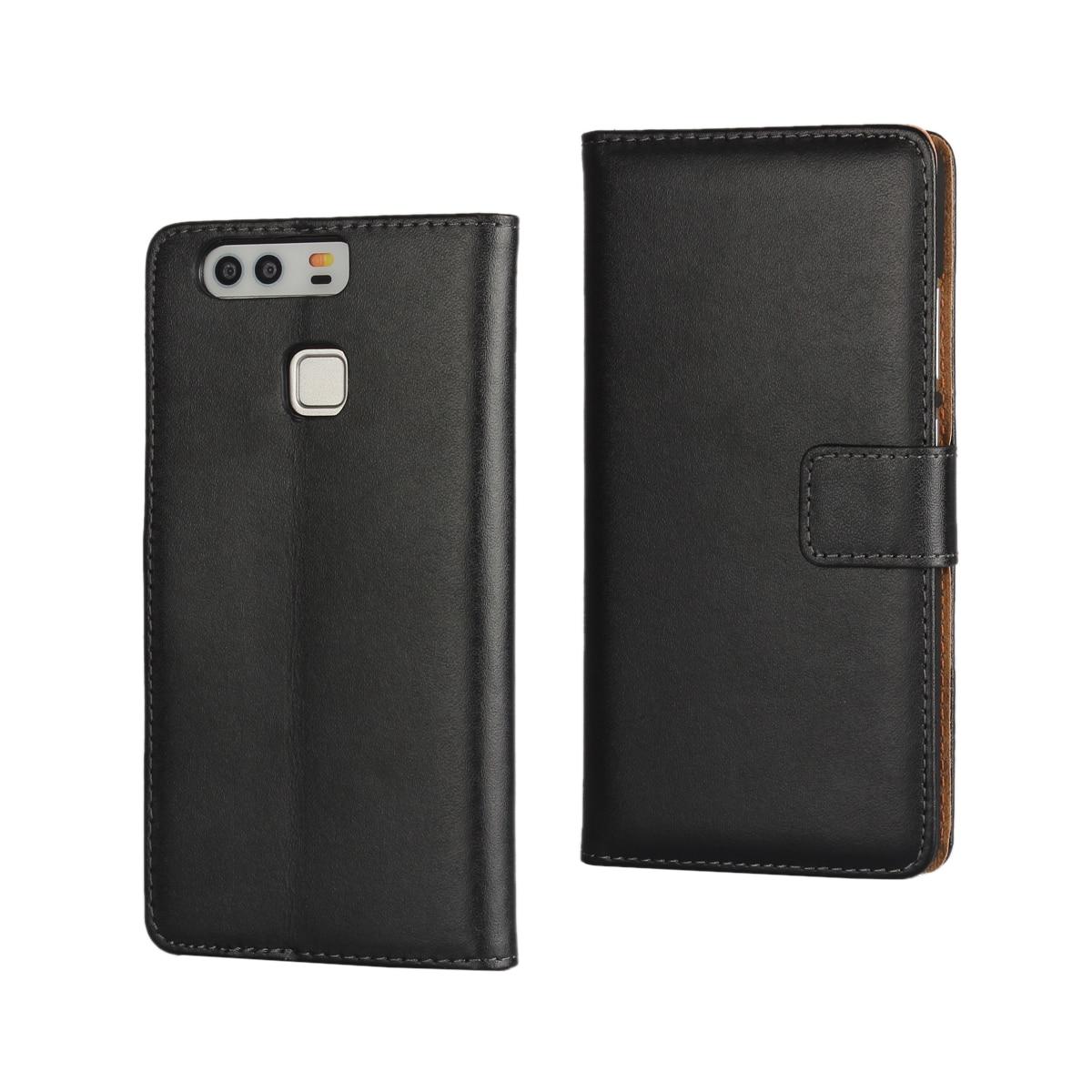 Väska till Huawei P9 täcka Premium PU-läderplånbok Väska Flip - Reservdelar och tillbehör för mobiltelefoner - Foto 6