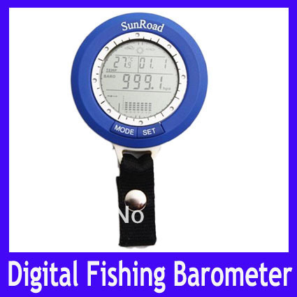 Free Shipping Mini LED Digital Fishing Barometer Waterproof Multi temp reels lure line fish finder ,MOQ=1