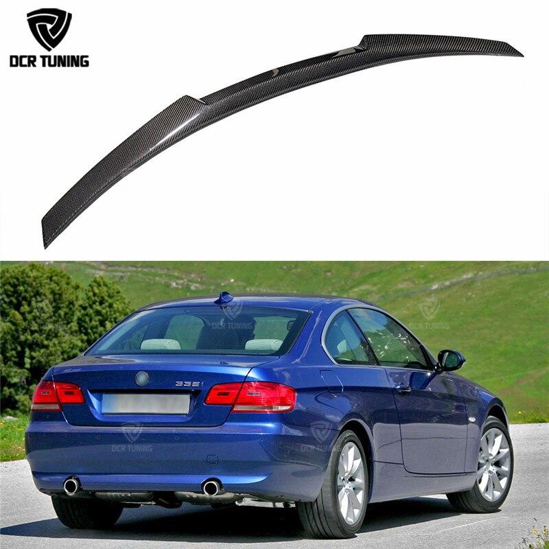 Nouveau M4 Style Pour BMW E92 Spoiler 3 Série 2 Porte E92 M3 & E92 Coupé Carbone Spoiler 320i 330i 335i Coupé 2005-2012