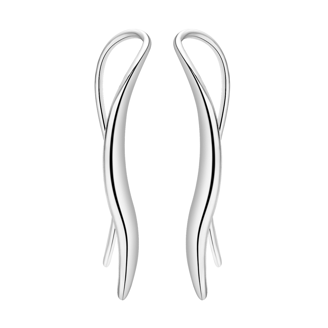 Todorova New Arrival Earrings Temperament Model Drop Earrings Female Metal S Curve Design Jewelry Earrings for Ladies 1