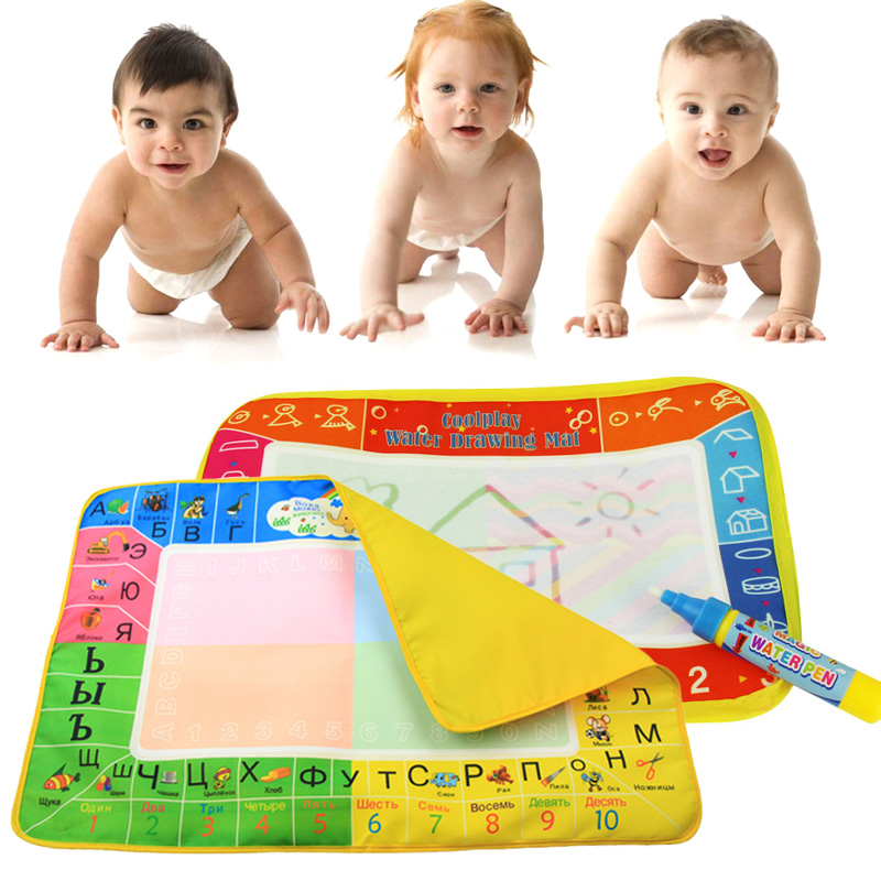 Baby Water Drawing Mat Board Painting Writing Doodle with Magic Pen Kids Toy Gifts 25 x 16.5CM YH-17