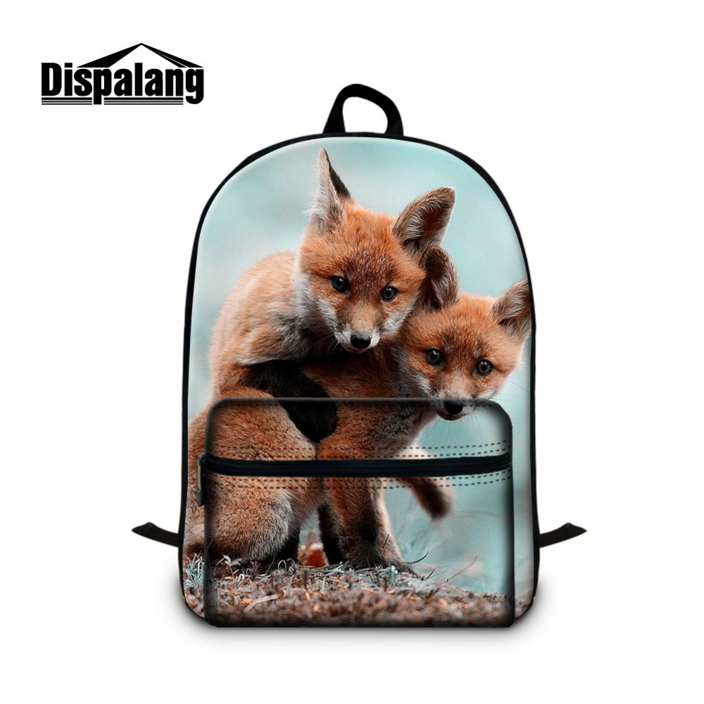 Fox Pattern School Backpacks for Teen Girls Cool Animal Bookbags for Boys Schoolbags Bagpack for Children Laptop Back Pack Youth