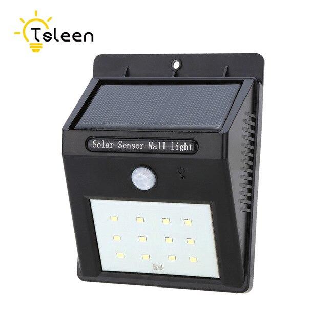 Tsleen 2pcs Box Led Solar Light 12 Leds Motion Sensor Garden Lampada