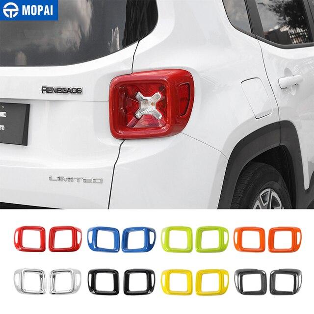 Mopai車リアテールライトガード装飾カバーjeep renegade 2015 2016エクステリアアクセサリーステッカー車のスタイリングlight guardtrim coverlight trim