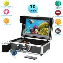 GAMWATER 10″ Inch Color Monitor 20M 1000tvl Underwater Fishing Video Camera Kit 12 PCS LED Lights