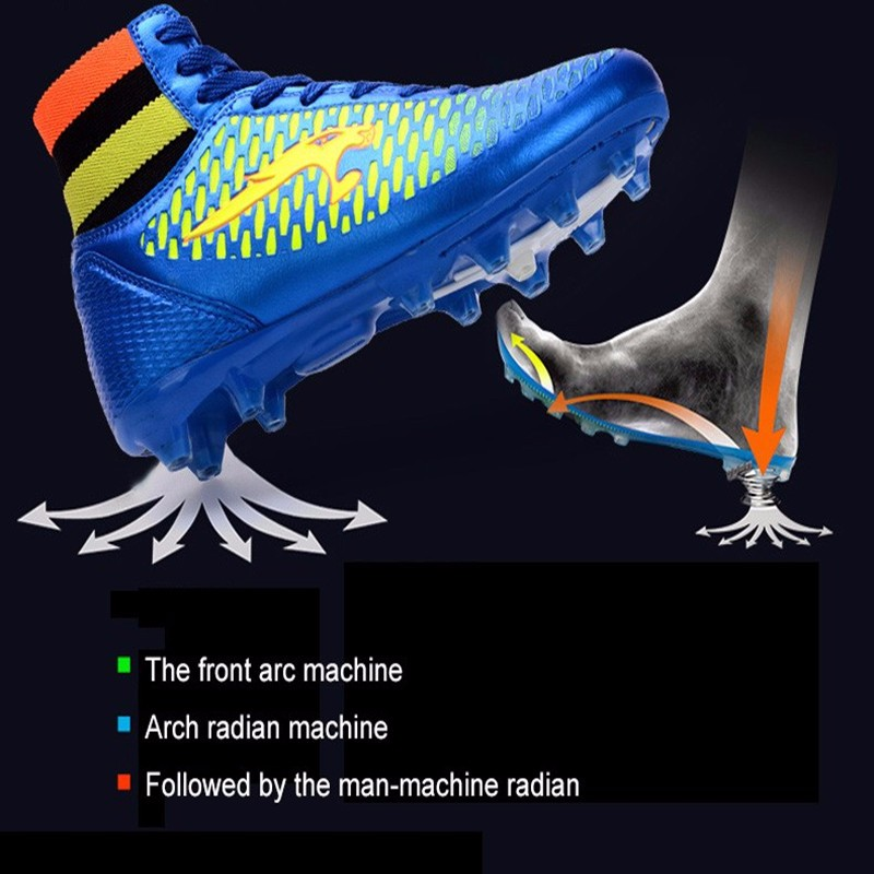 High Ankle Football Boots Kids Soccer Cleats Teenagers Outdoor AG Training Sneakers Botines Botas Futbol 2017 Superfly Original  12