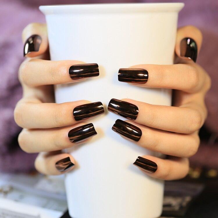 накладные ногти черного цвета фото хотите
