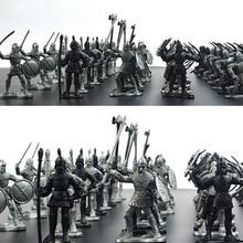 60pcs / set Medieval militar război Simulare războinici Ancient Soldier static Militar cifre model pentru Cadouri pentru copii