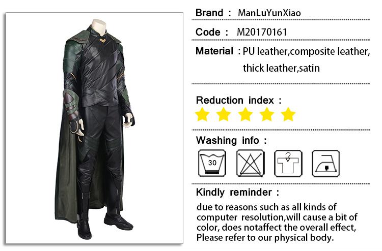 Detail Feedback Questions about Thor Ragnarok Loki Cosplay Costume