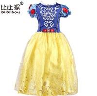 Summer Baby Girls Cinderella Dresses Children Snow White Princess Dresses Rapunzel Aurora Kids Party Halloween Costume