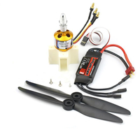 Fixing Wing KT Airplane Parts XXD 2450KV Motor + Hobbywing 40A ESC + 9g Servo + 6.3x3.15 Propeller High Speed Kits for SU 27