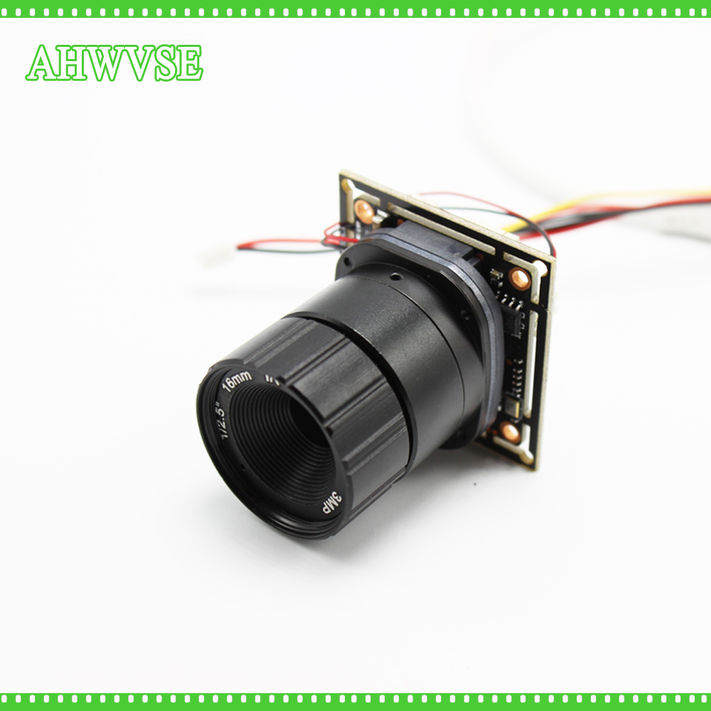 AHWVSE Long Distance 16mm Lens Mini AHD Camera Module AHDH 1080P with Bnc Port and 16mm 12mm 8mm 6mm 4mm Lens