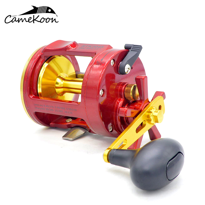 CAMEKOON Conventional Saltwater Big Game Fishing Reel 6KG Max Drag 1 Corrosion Resistant Ball Bearings Trolling